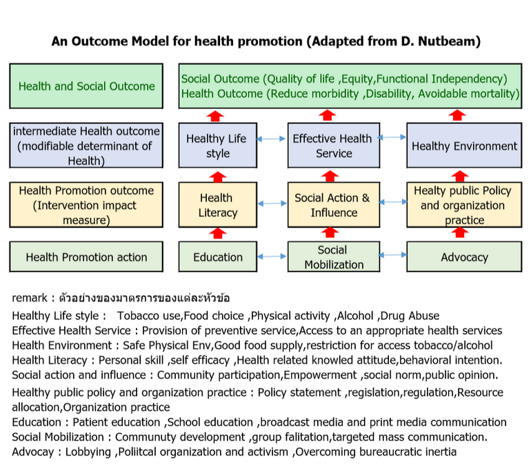 Health Promotion Output Model
